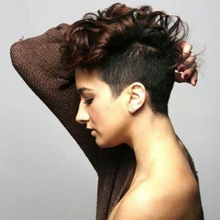 Curly Undercut Hair