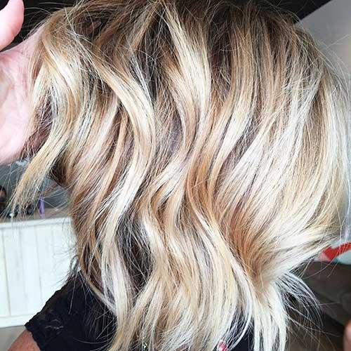 Ombre Bob Wavy Haircuts