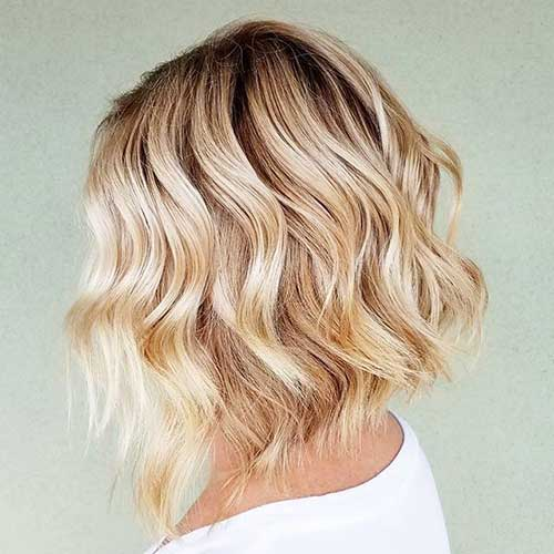 Short Wave Lob Hairstyle