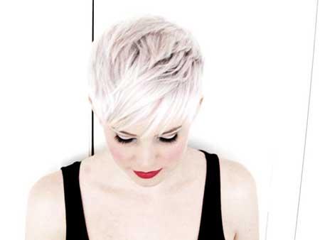 Short Platinum Blonde Hair - 10