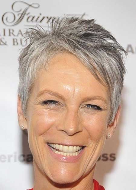 Short Gray Hair - 11
