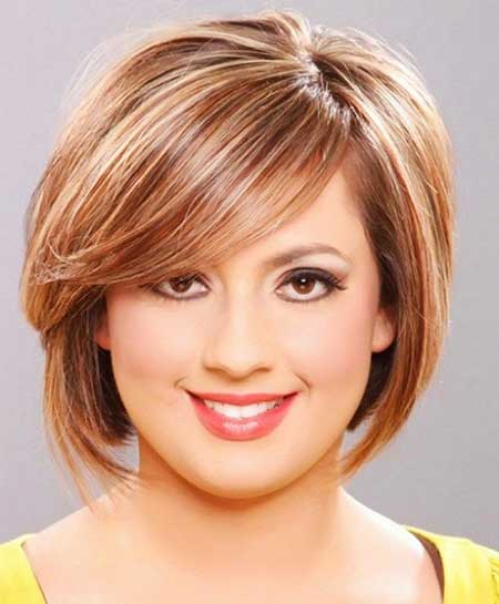 Short Haircuts for Women with Round Faces - 11