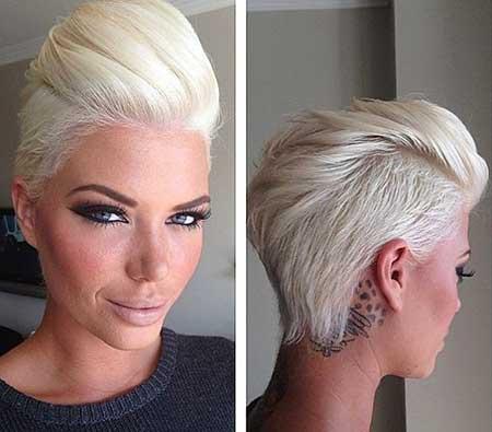Short Platinum Blonde Hair - 11