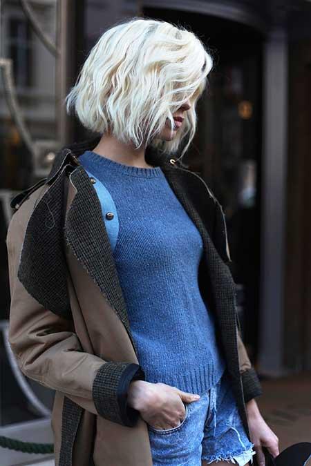 Short Platinum Blonde Hair - 12