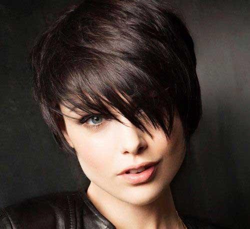 Short Dark Brown Hair - 13
