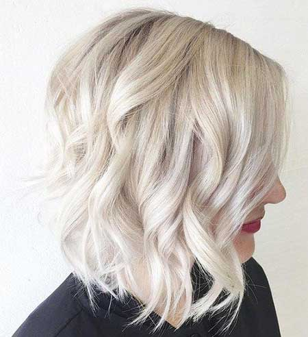 Short Platinum Blonde Haircuts