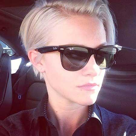 Short Platinum Blonde Hair - 13