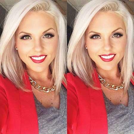 Short Platinum Blonde Hair - 14