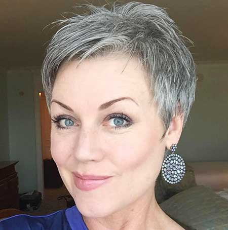 Short Gray Hair - 15