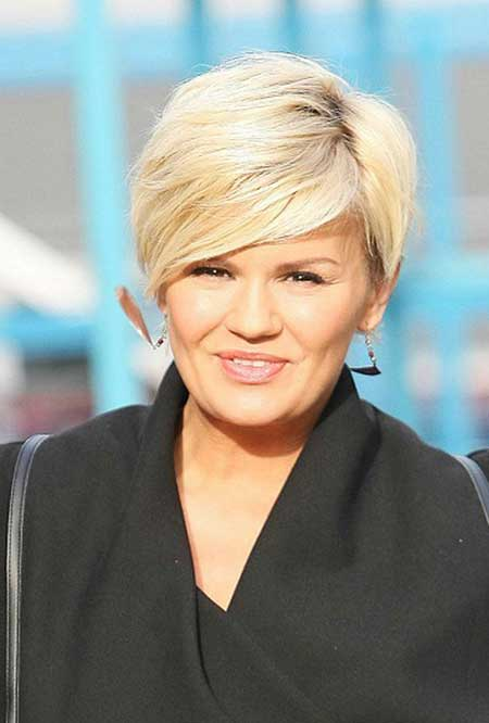 Short Haircuts for Women with Round Faces - 15