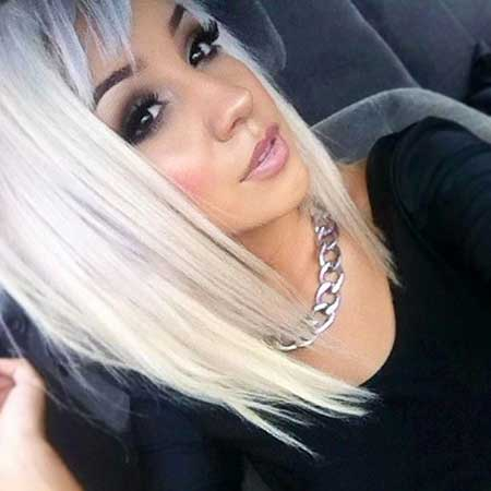 Short Platinum Blonde Hair - 15