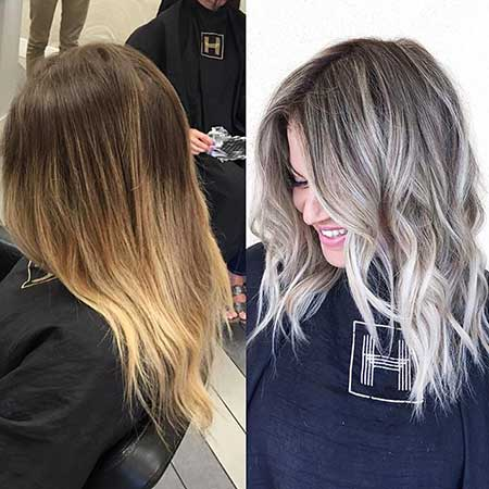Short Blonde Ash Hair - 16