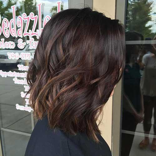 Short Dark Brown Hair - 16