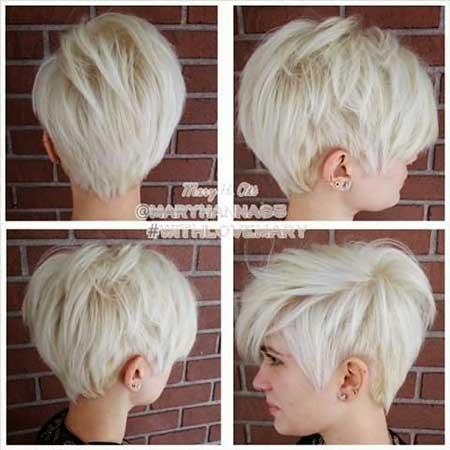 Short Platinum Blonde Hair - 16