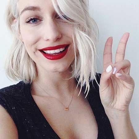 Short Platinum Blonde Hair - 17