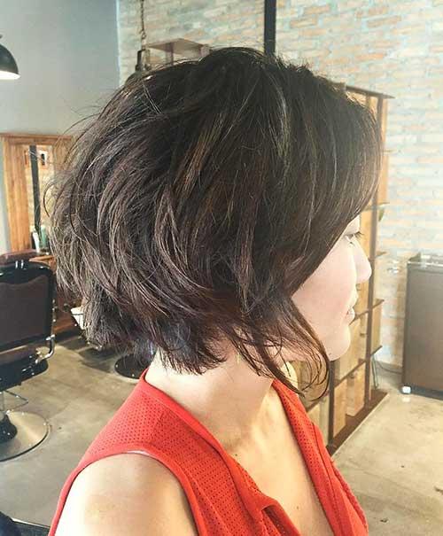 Short Dark Brown Hair - 26