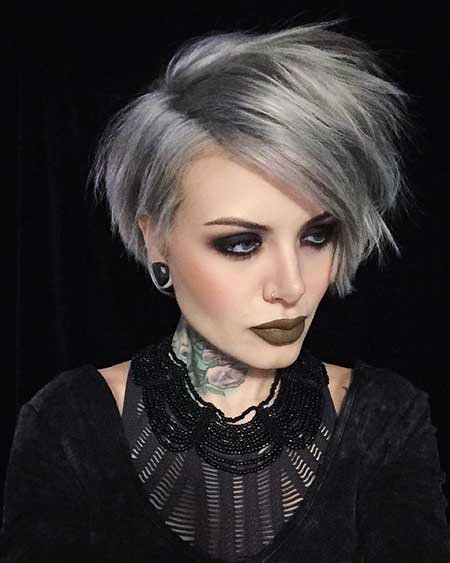 Short Gray Hair - 6