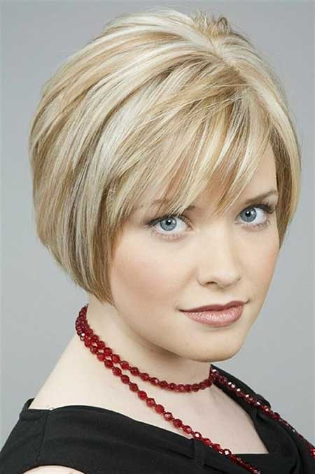 Short Haircuts for Women with Round Faces - 6