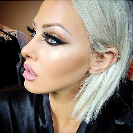 Short Platinum Blonde Hair - 6