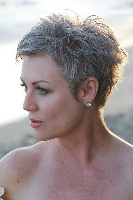 Short Gray Hair - 7