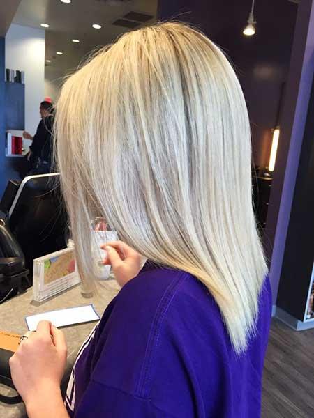 Short Platinum Blonde Hair - 9