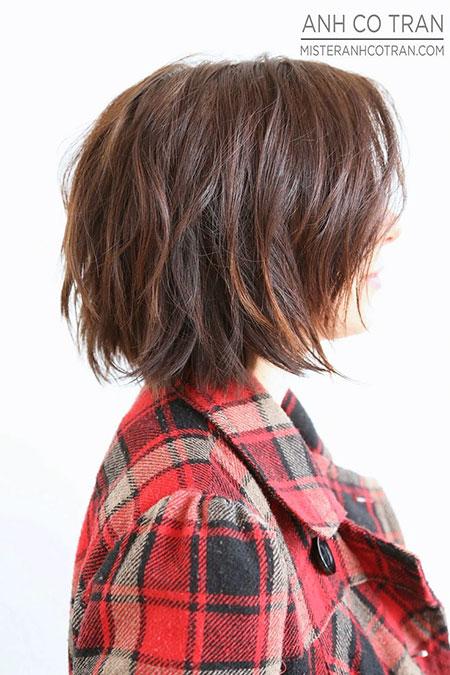 Cute Short Haircut for Women, Bob Haircuts Wavy Short