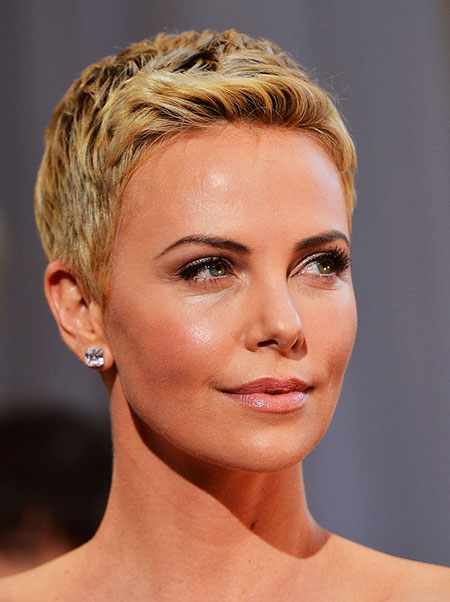 Short Pixie Theron Charlize