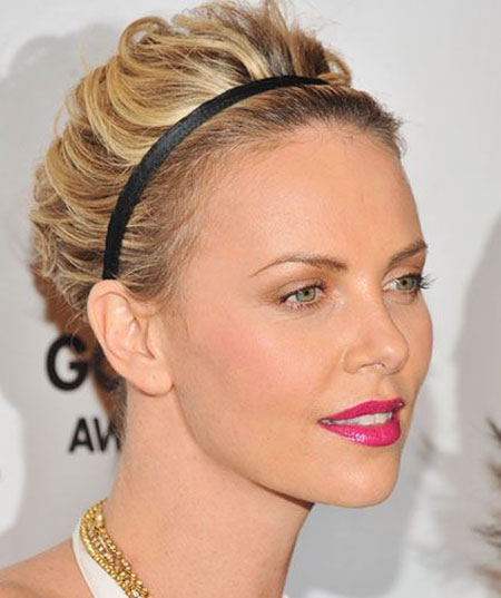 Updo Theron Hair Charlize