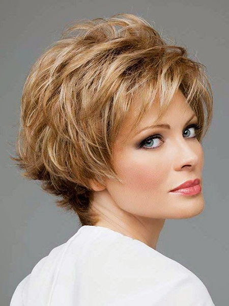 Women Short Hair Over