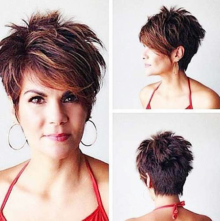 Short Pixie Oval Haircuts