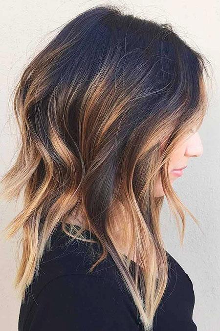 Medium Hair Balayage Wavy