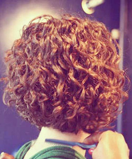 Curly Stacked Perm Hairtyles
