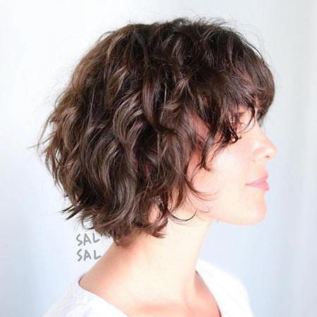 Wavy Hair Bob Short
