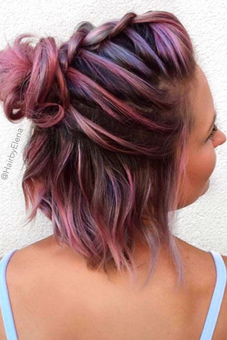 Hair Color Braids Simple