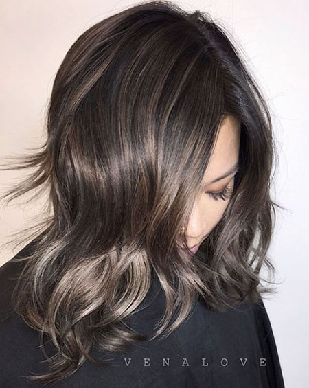 Hair Brown Balayage Shag