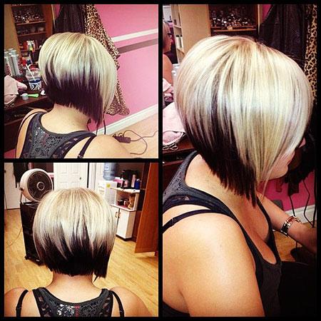 Two Tone Hair Color, Bob Haircuts Hair Short