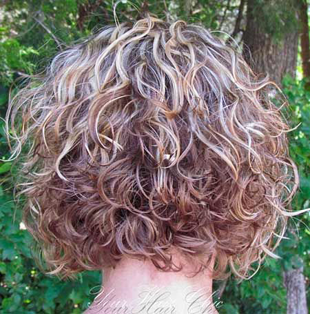 Stacked Hair, Curly Hair Perm Hairtyles