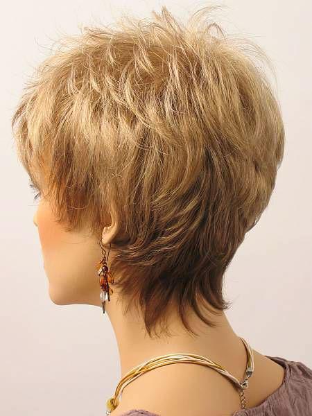 Back View, Short Women Hair Over