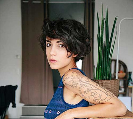 Pixie Cut Wavy Hair, Wavy Short Winehouse Pixie