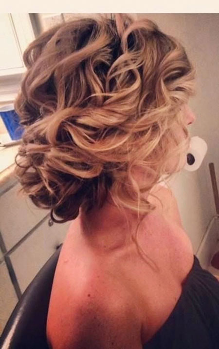 Prom Hairtyles Bun Curls, Hair Wedding Prom Hairtyles