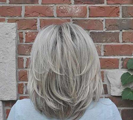Blonde Bob Hairtyle, Blonde Medium Bob Layered