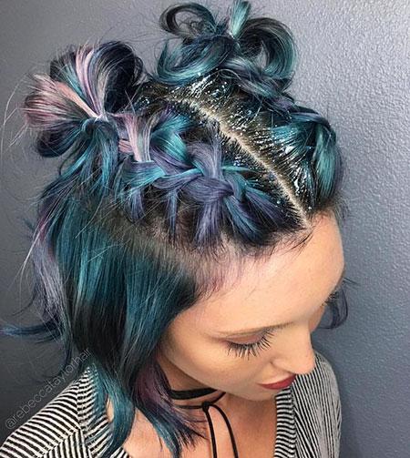 Hair Color Updo Undercut