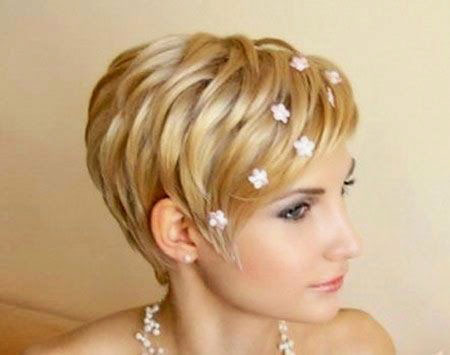 Short Hair Wedding Haircuts