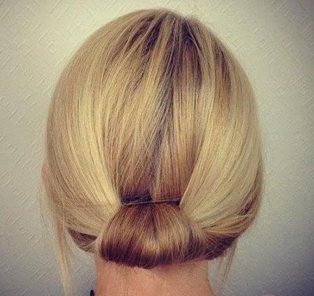 Updo Hair Simple Short