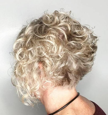 Curly Blonde Hair Gray
