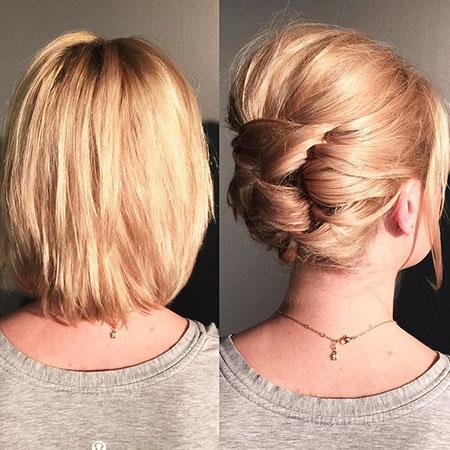 Cute Bun Hairtyle, Hair Wedding Updo Short