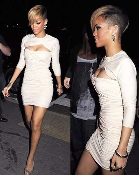 Blonde and Black Short Hairtyle, Rihanna Short Kim Kardashian