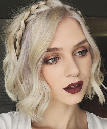 Hairtyles for Girls with Short Hair, Hair Up Makeup Lips