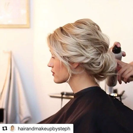 23 Hair Updos for Short Hair - Short Hairstyles 2018