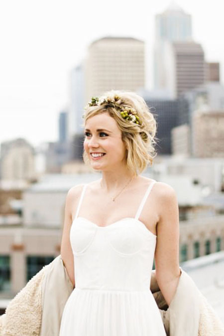 Flower Crown Short Hair, Wedding Hairtyles Hair Flower